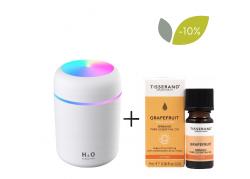 Zestaw: Dyfuzor do olejków Appio (kolor biały) + Grapefruit Organic - Olejek Grejpfrutowy (9 ml) Tisserand