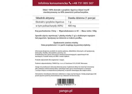 Agaricus - ekstrakt 40% polisacharydów (100 g)