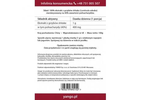 Shitake - ekstrakt 40% polisacharydów (100 g)