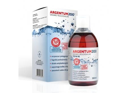 Tonik Argentum200 (50 ppm) Srebro Koloidalne (500 ml)