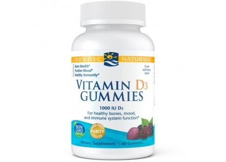 Vitamin D3 Gummies 1000 IU (60 żelek)