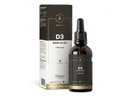 Witamina D3 2000 IU PREMIUM Vegan D3V® (50 ml)