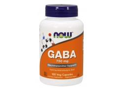 GABA - Kwas Gamma Aminomasłowy 750 mg (100 kaps.)