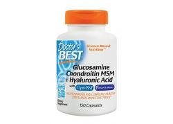 Glukozamina, Chondroityna, MSM i Kwas Hialuronowy (150 kaps.)