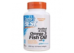 Purified & Clear Omega 3 Fish Oil 1000 mg (120 kaps.)