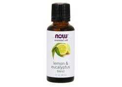 Lemon & Eucalyptus Blend - Olejek Cytrynowy, Olejek Eukaliptusowy i Olejek z Trawy Cytrynowej (30 ml)