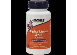 ALA - Kwas Alfa Liponowy 100 mg + Kwas Askorbinowy + Witamina E (60 kaps.)