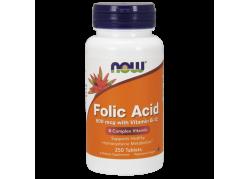 Folic Acid - Kwas foliowy 800 mcg + Witamina B12 25 mcg (250 tabl.)