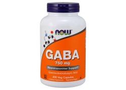 GABA - Kwas Gamma Aminomasłowy 750 mg (200 kaps.)