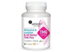 Witamina B Complex B-50 Methyl TMG Plus - Betaina Bezwodna + Taurynian Magnezu + Kompleks wit. B (100 kaps.)