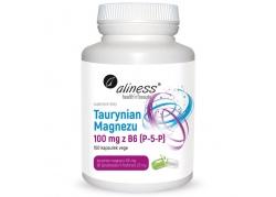 Taurynian Magnezu 100 mg + Witamina B6 (P-5-P) 2,5 mg (100 kaps.)