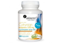 Cytrynian Magnezu 100 mg + Cytrynian Potasu 150 mg + Witamina B6 (P-5-P) 2,5 mg (100 kaps.)