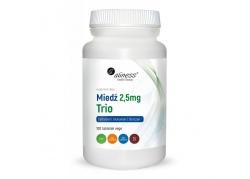 Miedź Trio 2,5 mg - Cytrynian Miedzi + Glukonian Miedzi + Siarczan Miedzi (100 tabl.)
