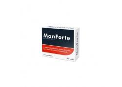 ManForte - L-Arginina + Buzdyganek + Żeń-szeń + Cynk + Selen + Witamina E + Witamina B6 (45 kaps.)