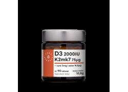 Witamina D3 + K2 mk7 + Cynk + Selen (90 tabl.)