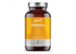 Energia - Guarana + Żeń-szeń + Maca + Schisandra + Rhodiola + Imbir (50 kaps.)