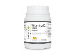 Witamina D3 1000 IU (300 kaps.)
