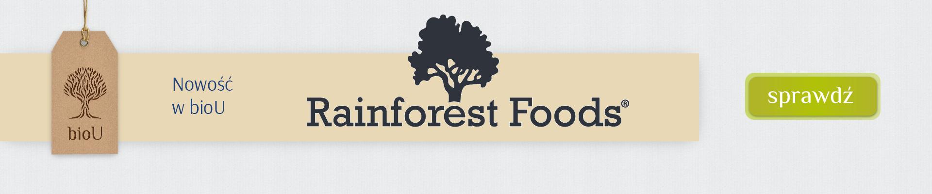 Sprawdź nowość w bioU - produkty marki Rainforest Food.